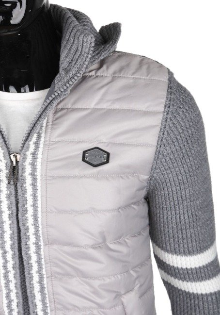 Strickjacke CIPO BAXX CP126 GREY