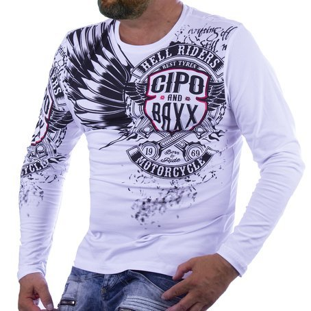 Sweatshirt CIPO BAXX CL403 WHITE