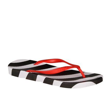Zehentrenner COQUI KAJA Black/White oblique stripes